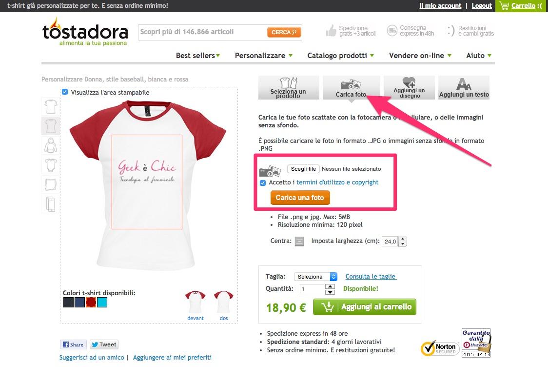 Eccezionale Creare magliette personalizzate online | Geek è Chic IZ14