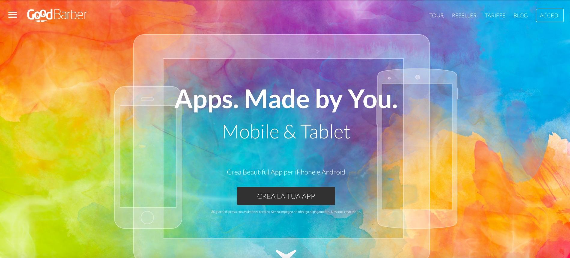 GoodBarber, il modo più facile di creare un'app